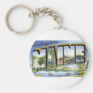 Greetings From Maine Key Ring
