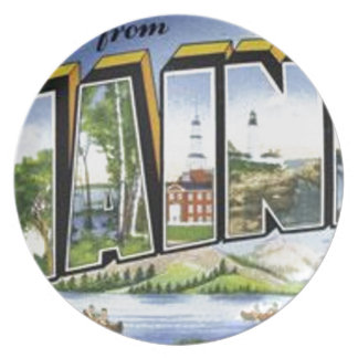 Greetings From Maine Plate