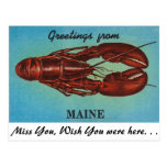 Greetings from Maine Post Card