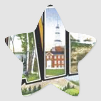 Greetings From Maine Star Sticker