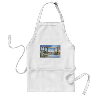 Greetings From Maine, Vintage Adult Apron