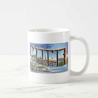 Greetings From Maine, Vintage Coffee Mugs