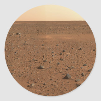 Greetings From Mars Classic Round Sticker
