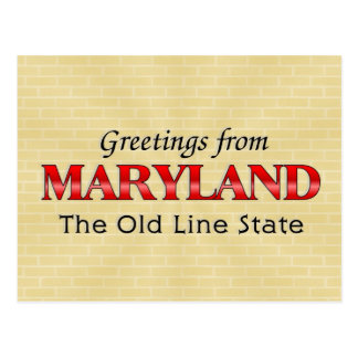 Greetings from Maryland Postcard