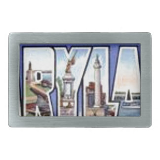 Greetings From Maryland Rectangular Belt Buckle