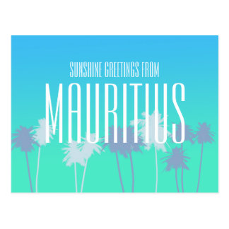Greetings from Mauritius Postcard