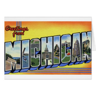 Greetings From Michigan Card