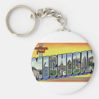 Greetings From Michigan Key Ring