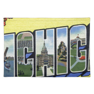 Greetings From Michigan Placemat
