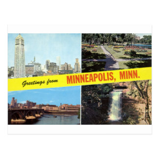 Greetings from Minneapolis 1950s Postcard