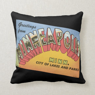 Greetings From Minneapolis Cushion