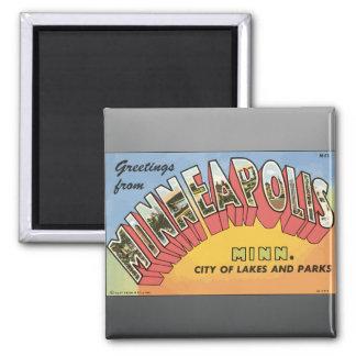 Greetings From Minneapolis Minn Vintage Fridge Magnets