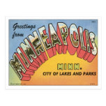 Greetings From Minneapolis Postcard