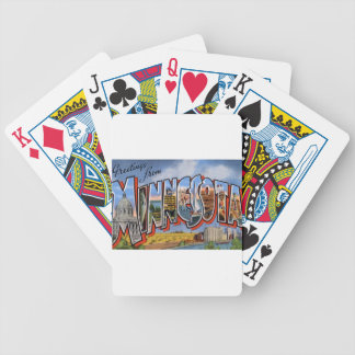 Greetings From Minnesota Bicycle Playing Cards