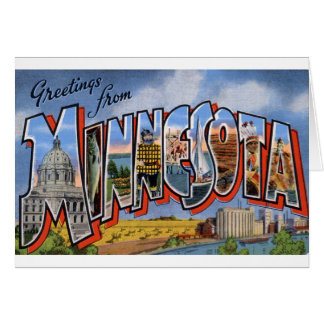 Greetings From Minnesota Card