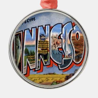 Greetings From Minnesota Metal Ornament