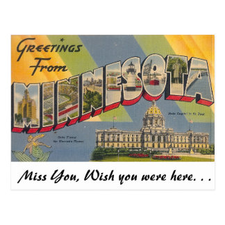 Greetings from Minnesota Postcard