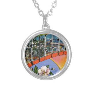 Greetings From Mississippi Silver Plated Necklace