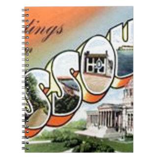 Greetings From Missouri Notebooks