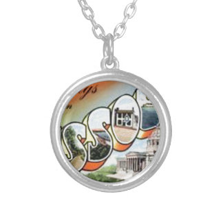 Greetings From Missouri Silver Plated Necklace