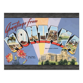 Greetings From Montana State Capital In Helena, Vi Postcards