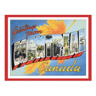 Greetings From Montreal Canada Postcard