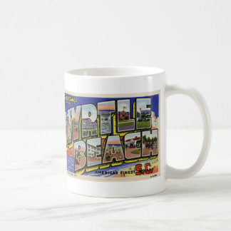 Greetings from Myrtle Beach Vintage Postcard Mug