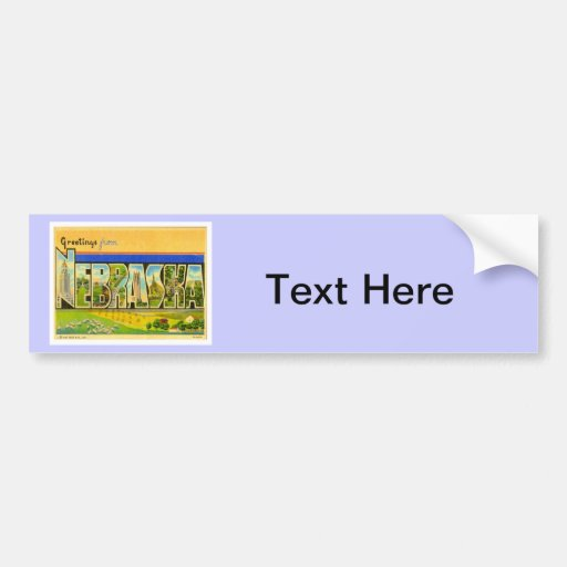 Greetings From Nebraska Bumper Sticker