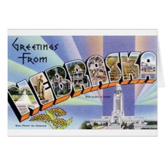 Greetings From Nebraska Card