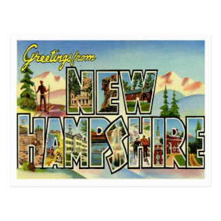 Greetings From New Hampshire Vintage Postcard