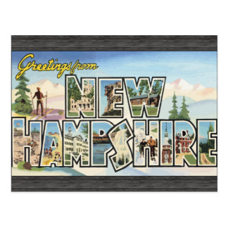 Greetings From New Hampshire, Vintage Postcard