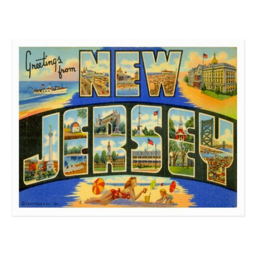 Greetings From New Jersey Post Card
