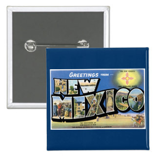 Greetings from New Mexico Pins