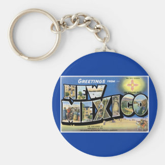 Greetings from New Mexico! Basic Round Button Key Ring