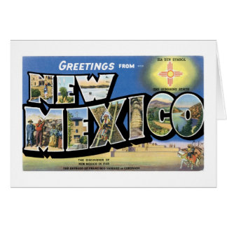 Greetings from New Mexico! Greeting Card