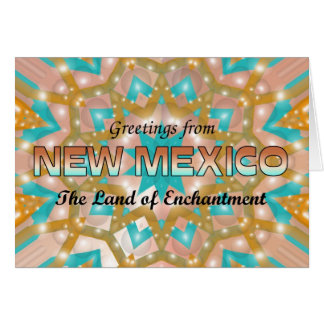 Greetings from New Mexico Greeting Card