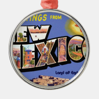 Greetings From New Mexico Metal Ornament