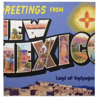 Greetings From New Mexico Napkin
