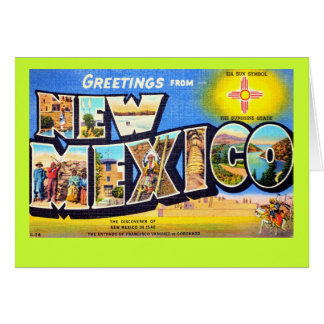Greetings from New Mexico Note Card