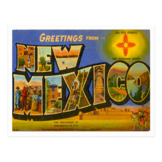 Greetings From New Mexico Postcards