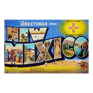 Greetings from New Mexico Poster