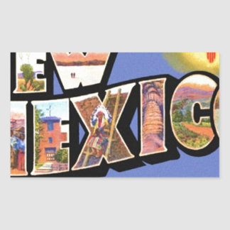 Greetings From New Mexico Rectangular Sticker