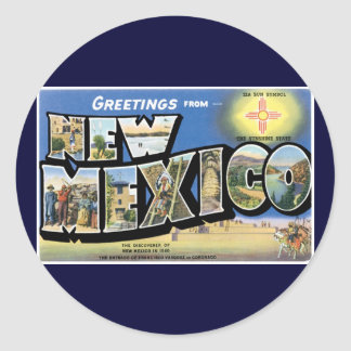 Greetings from New Mexico! Round Sticker
