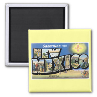 Greetings from New Mexico! Square Magnet