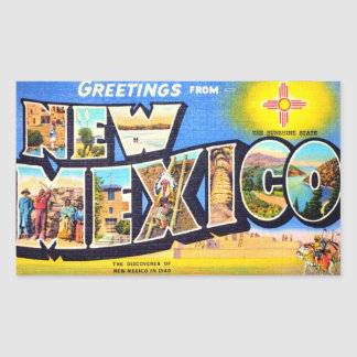 Greetings from New Mexico Rectangle Stickers