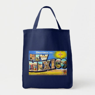 Greetings from New Mexico Grocery Tote Bag