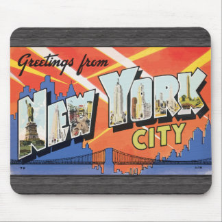 Greetings From New York City, Vintage Mouse Pads