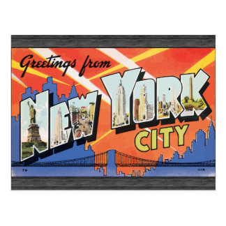 Greetings From New York City, Vintage Postcard