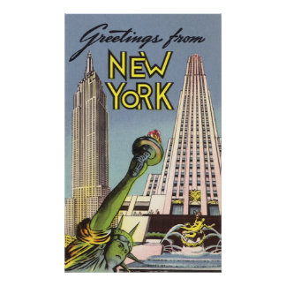 Greetings From New York Poster
