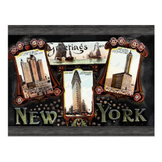 Greetings From New York , Vintage Postcard